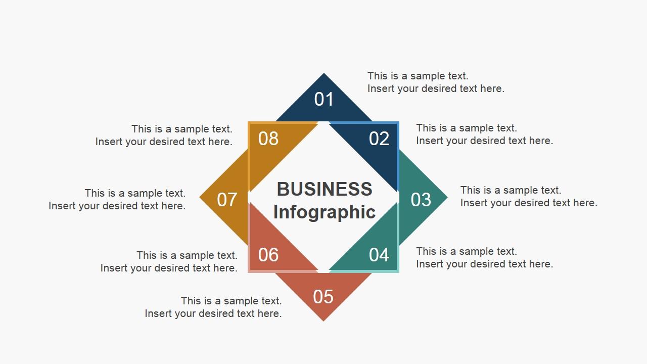 Squares Business Infographics Slide