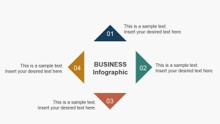 4 Steps Triangular Slide Business Diagram Concept