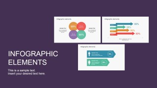 Data Infographic Flat Elements for PowerPoint
