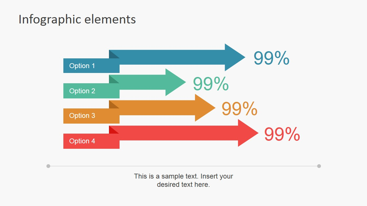 PowerPoint Folded Labels with Percentages