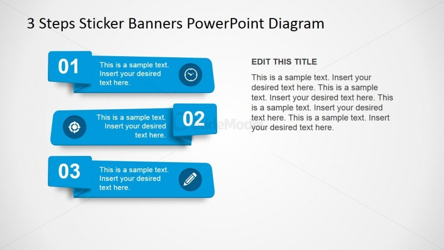 PowerPoint Numbered Banners and Icons