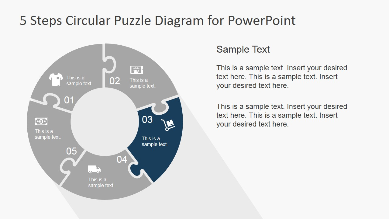 PowerPoint Puzzle Diagram Third Step Highlight