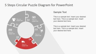 PowerPoint Ring Diagram Fourth Step Jigsaw Piece