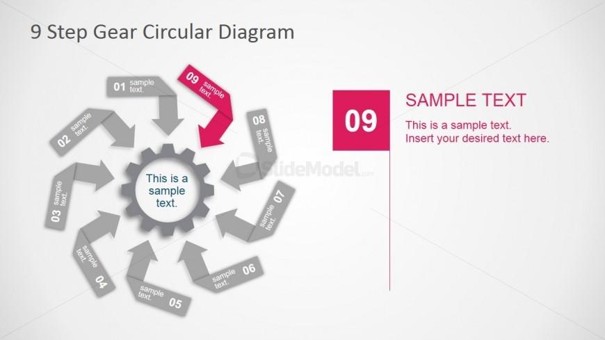 PowerPoint Circular Diagram of 9 Steps