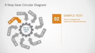 PowerPoint Circular Diagram with Nine Arrow Steps
