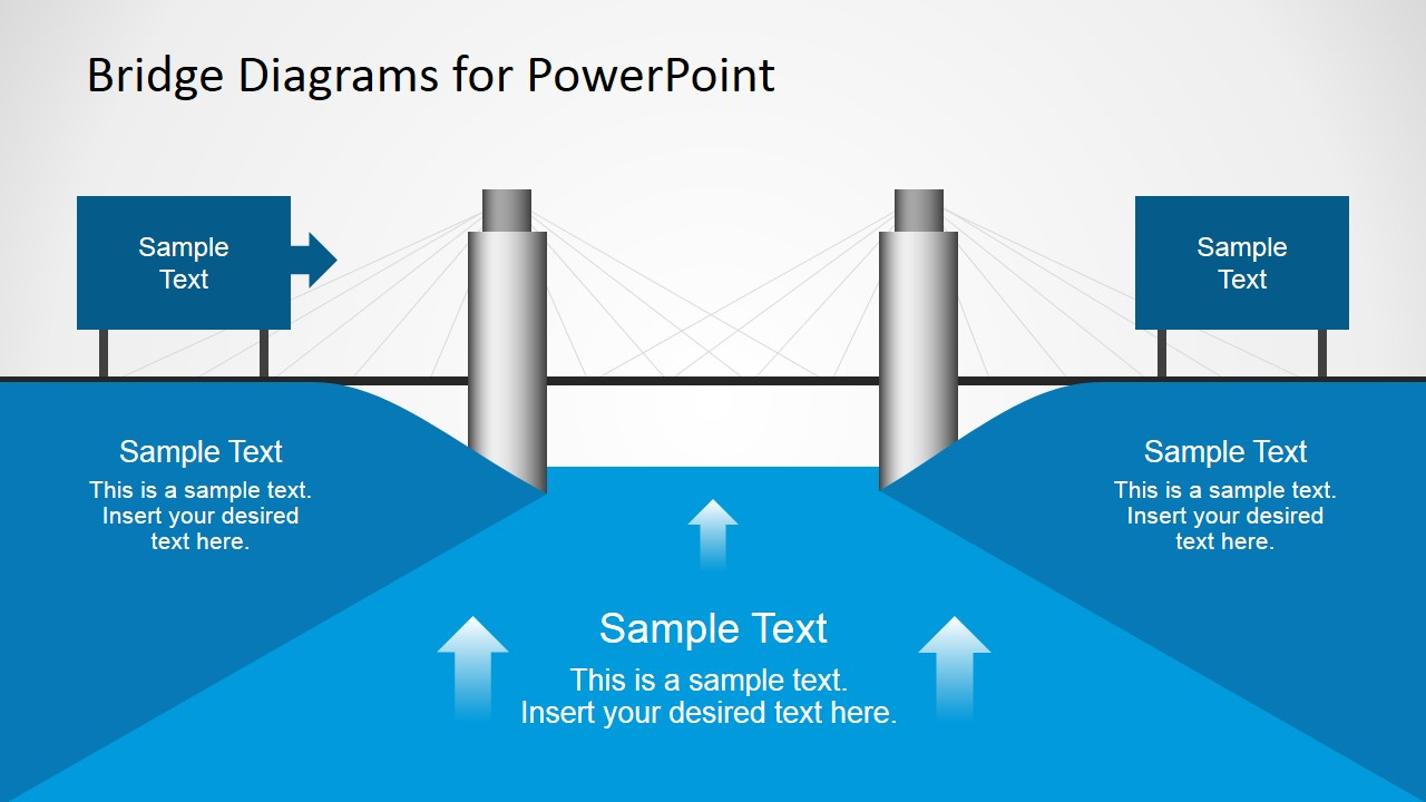 2d Bridge Diagrams Template For Powerpoint Slidemodel