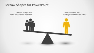 Balance Seesaw Concept Slide for PowerPoint