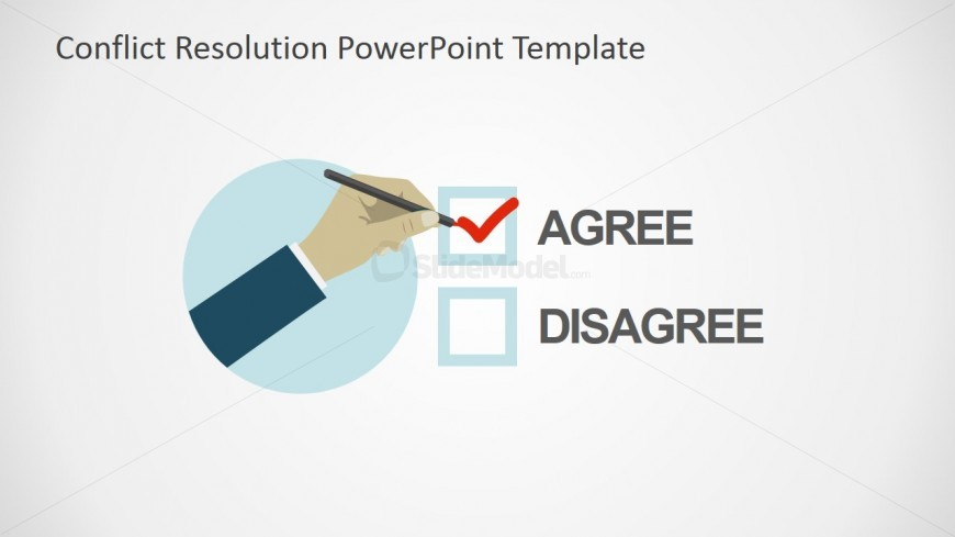 PowerPoint Material Design Hand with Checklist Clipart