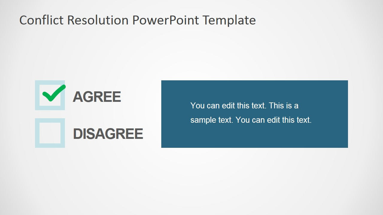 Conflict resolution powerpoint template slidemodel powerpoint checklist agreement topics toneelgroepblik Images
