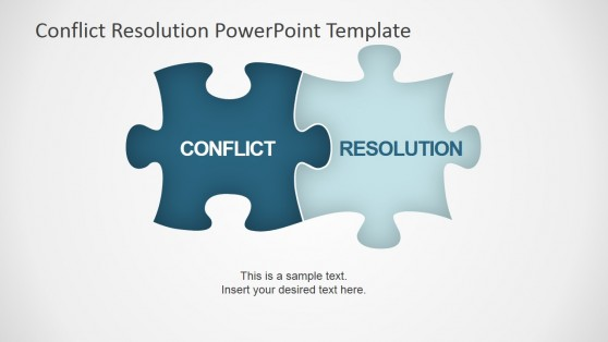 Conflict Resolution Jigsaw Puzzle Shapes for PowerPoint