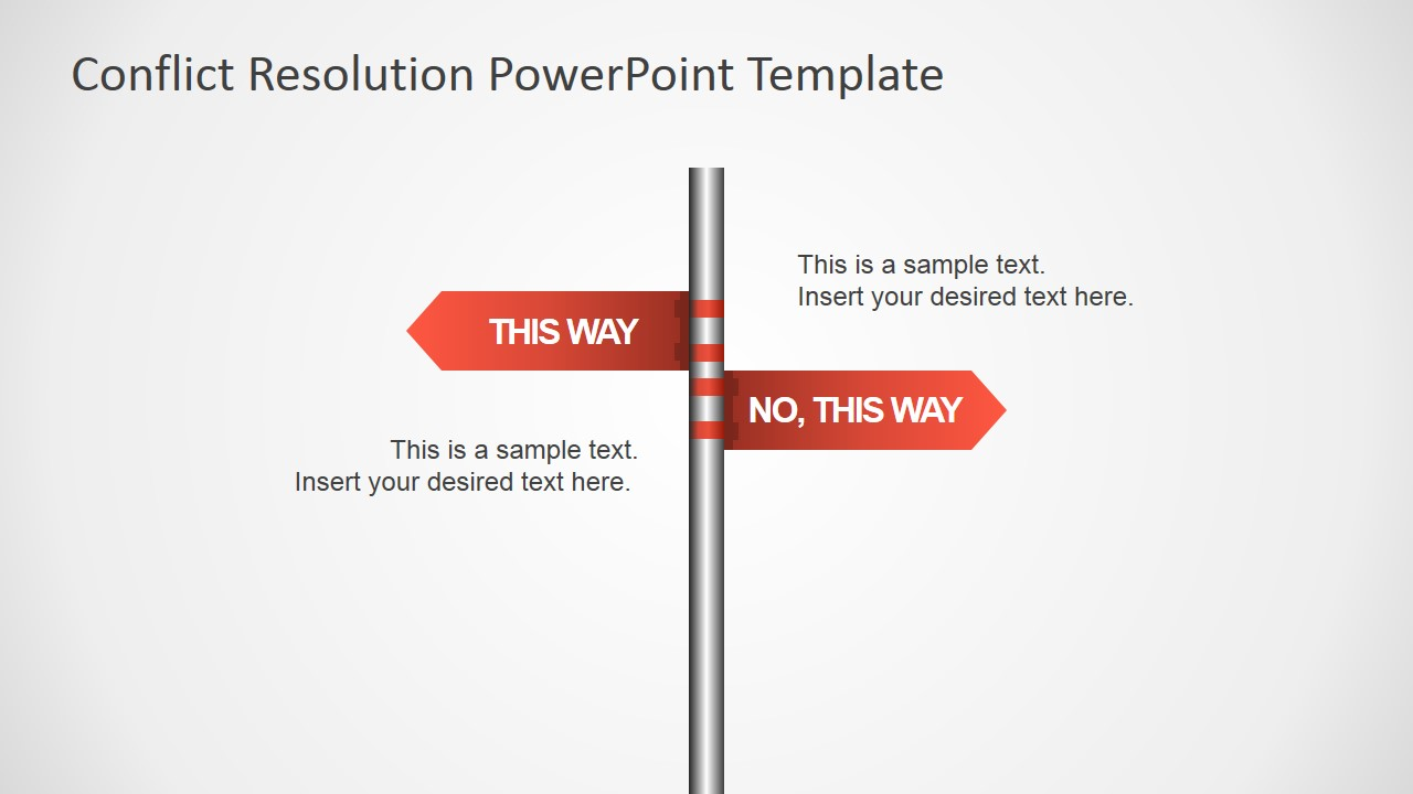 Conflict resolution powerpoint template slidemodel resolution metaphor powerpoint shapes of traffic sign toneelgroepblik Images