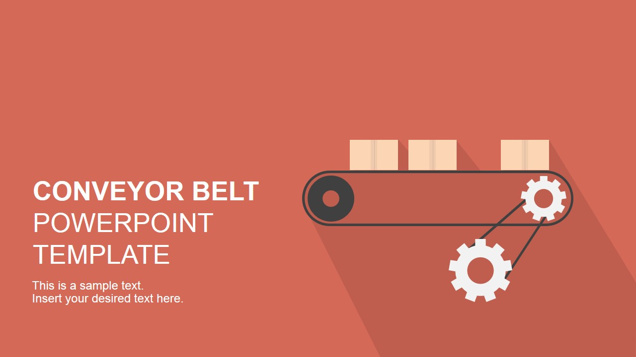 Flat conveyor belt powerpoint template slidemodel flat conveyor belt powerpoint template toneelgroepblik Choice Image