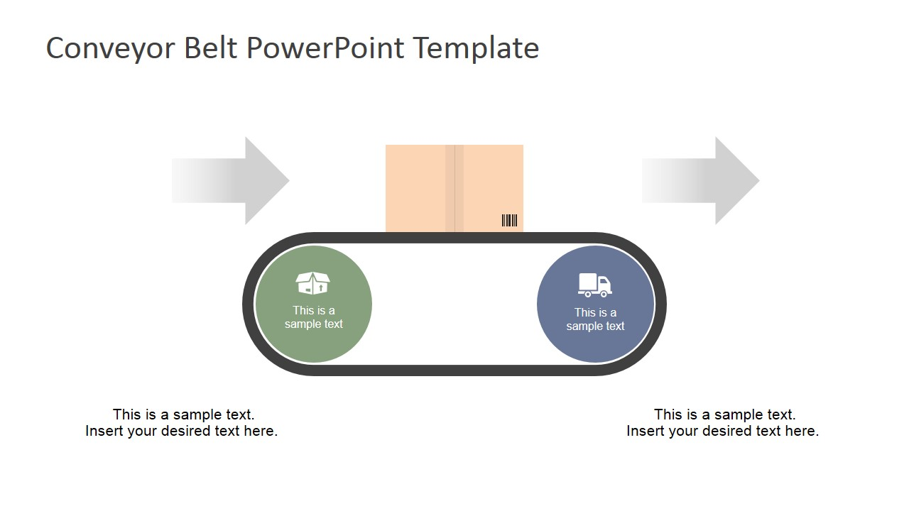 Flat Conveyor Belt PowerPoint Template