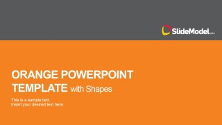 PowerPoint Template Featuring Flat Orange Theme
