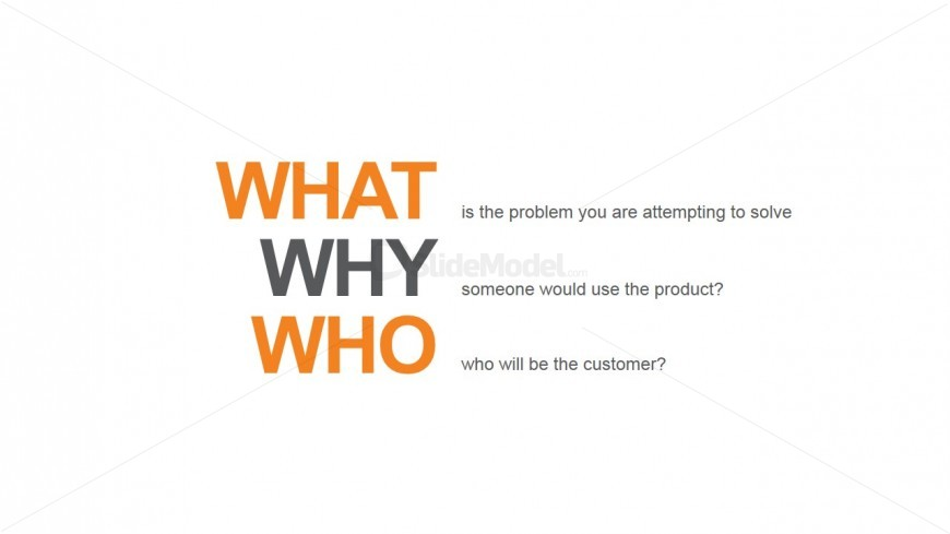 PowerPoint Orange Template What Why and Who Metaphor