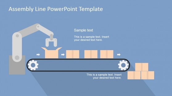 Automation Scene Assembly Line PowerPoint Scene