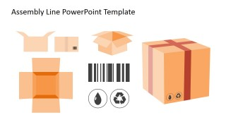 PowerPoint Shapes of Cardboard Box
