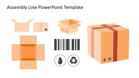 Box PowerPoint Clipart for Assembly Line
