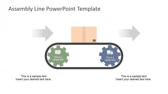 Two Steps Gear Conveyor Belt Clipart