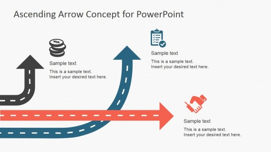 Mixed Arrows Path for PowerPoint