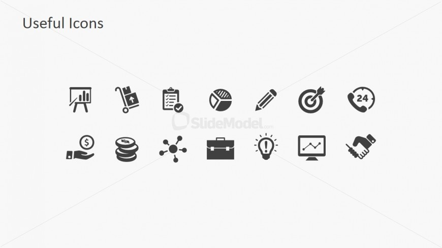 Basic PowerPoint Shape Icons Collection