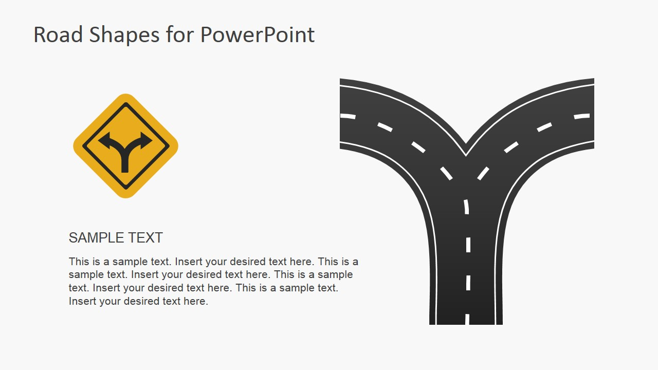 road shapes for powerpoint presentations slidemodel