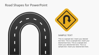 U-Shaped Curve Road Illustration for PowerPoint