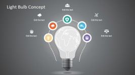 Creative Light Bulb Graphic for PowerPoint