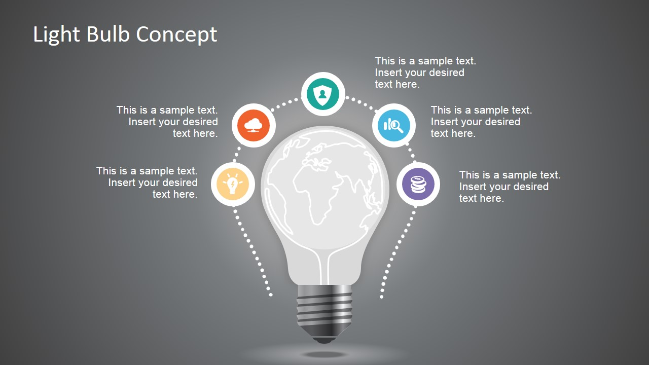 Minimal style light bulb concept for powerpoint slidemodel minimal style light bulb concept for powerpoint toneelgroepblik Gallery