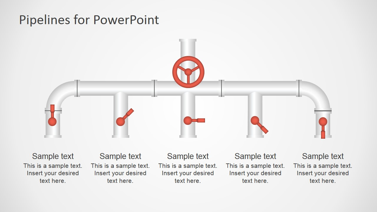 pipeline shapes powerpoint template