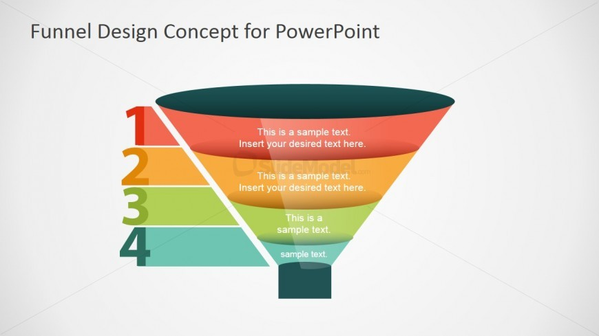 Step Funnel Concept Design SlideModel - Awesome funnel image powerpoint concept