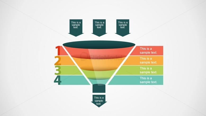 4 Steps Sales Funnel Slide Design for PowerPoint