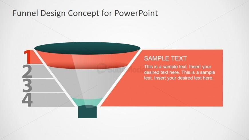 1st Funnel Step PowerPoint Slide