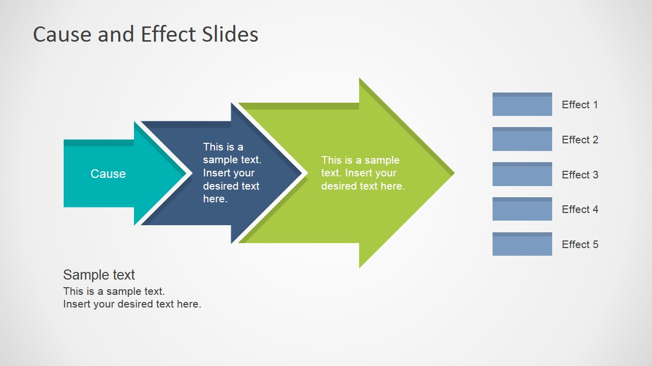 cause effect powerpoint template  cause effect arrow multiple effects