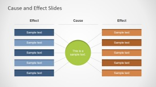 Cause And Effect X on Powerpoint Process Flow Chart Template