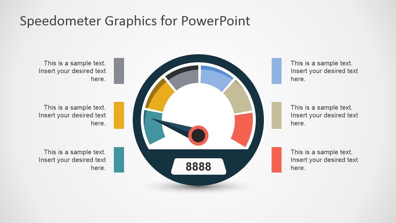 vector speedometer graphics for powerpoint