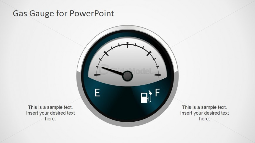 Editable Gas Gauge Graphic for PowerPoint