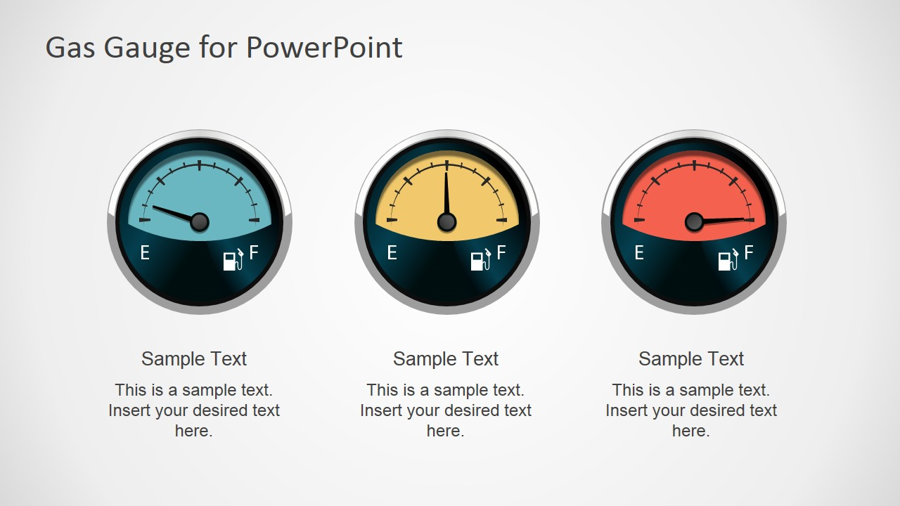 gas gauge powerpoint shapes - slidemodel, Powerpoint templates