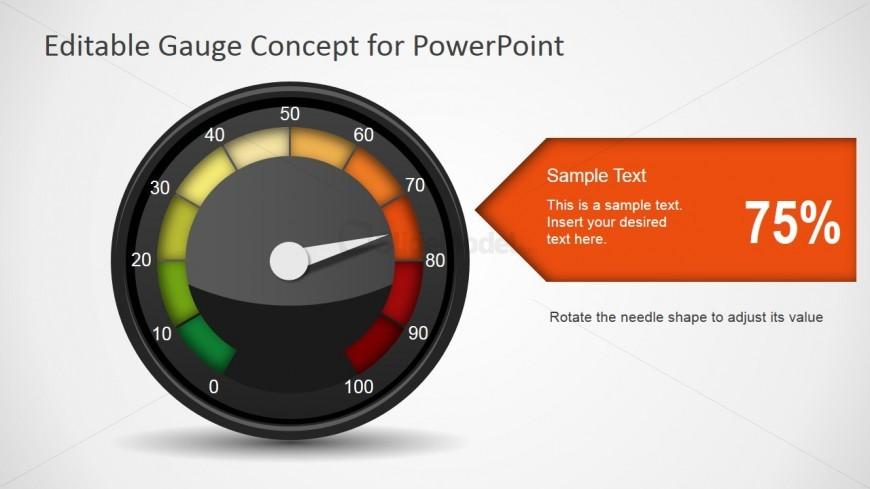 Risk Danger Gauge Level Illustration SlideModel : 6955 01 gauge concept for powerpoint 4 870x489 from slidemodel.com size 870 x 489 jpeg 54kB