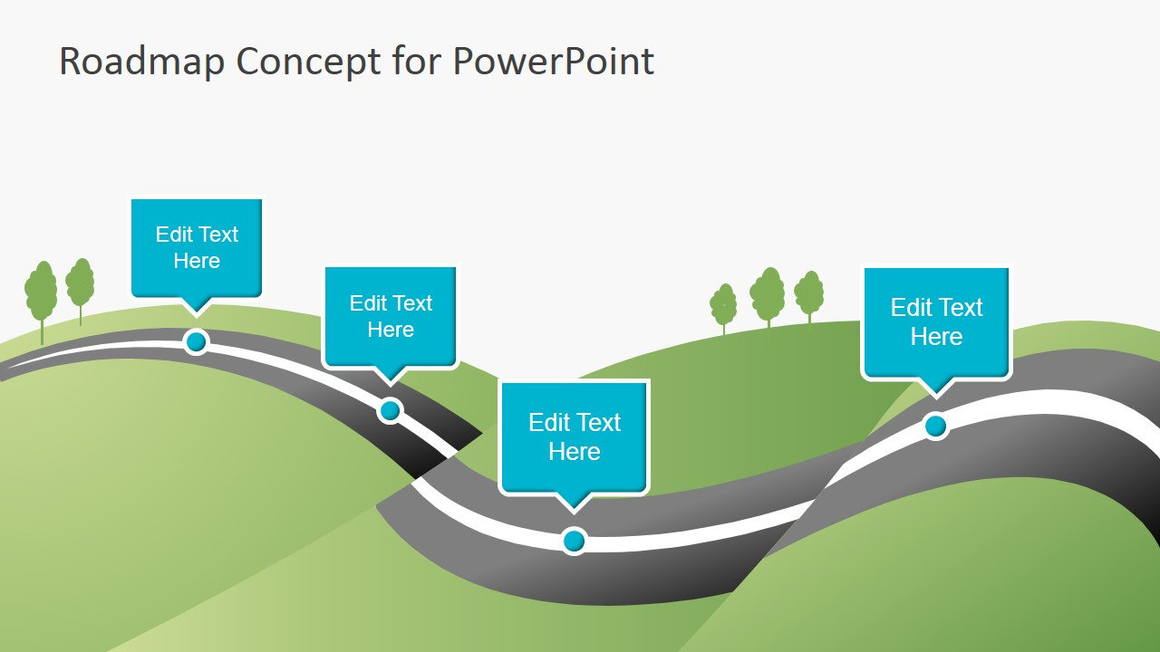 creative roadmap concept powerpoint template - slidemodel, Modern powerpoint