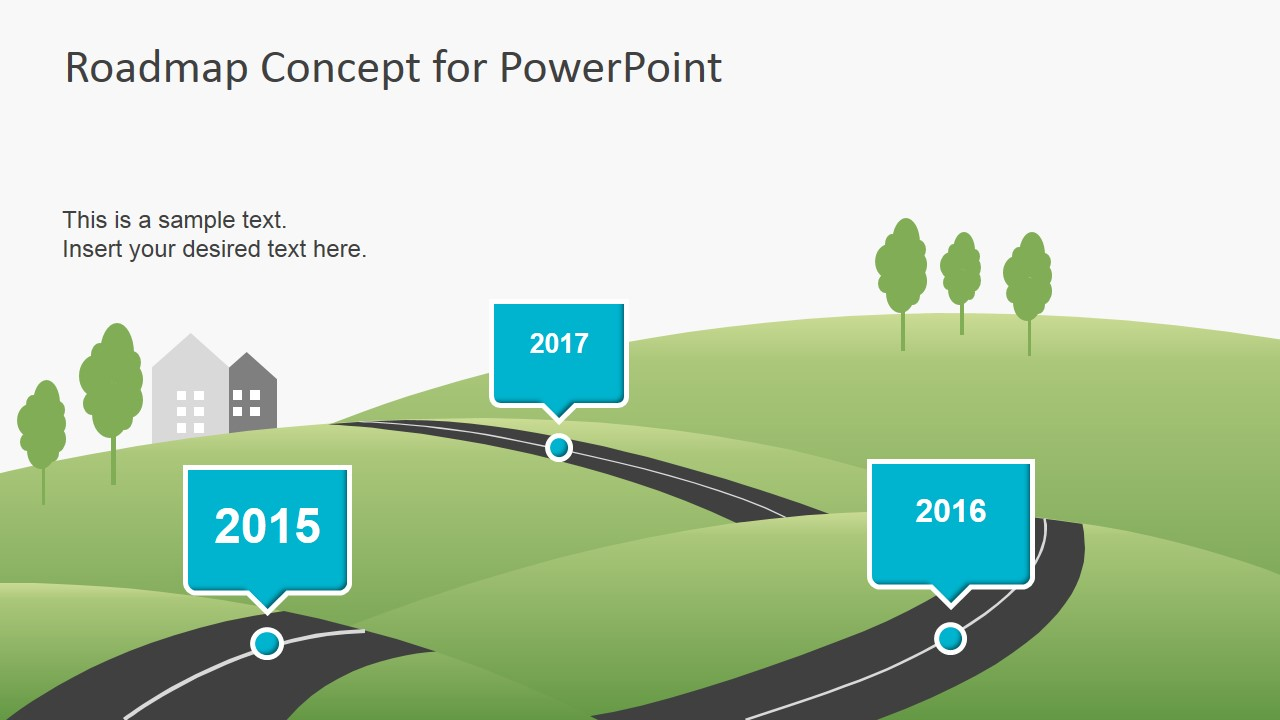 Creative roadmap concept powerpoint template slidemodel for Road map powerpoint template free
