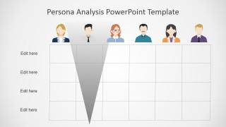 Persona Analysis Slide Matrix in PowerPoint