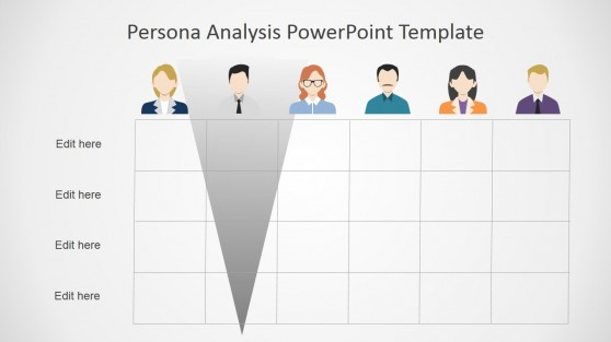 Persona Analysis Slide Matrix in PowerPoint