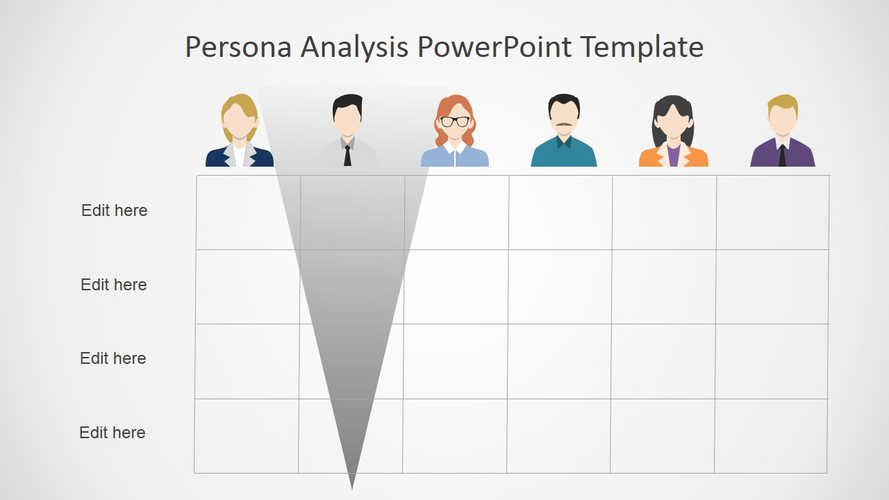 what is a template in powerpoint - persona analysis powerpoint template slidemodel
