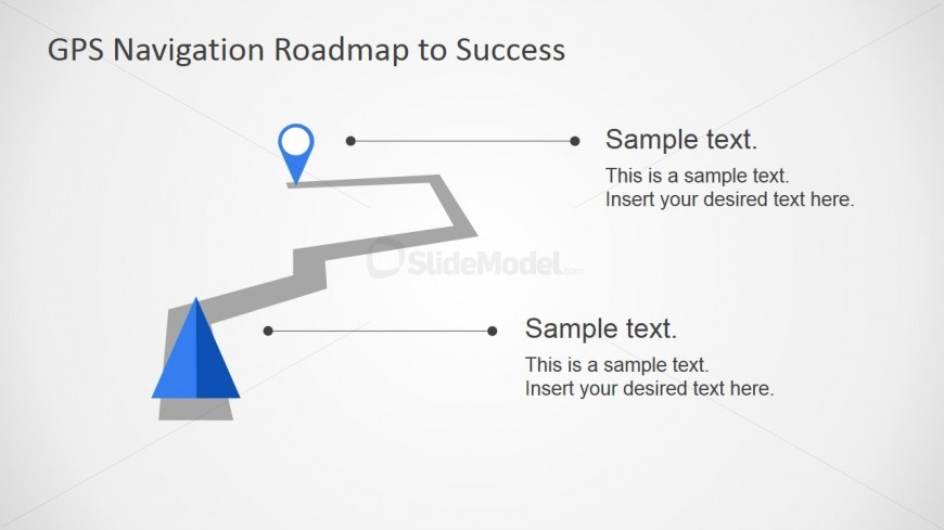 GPS Map Illustration Concept for PowerPoint