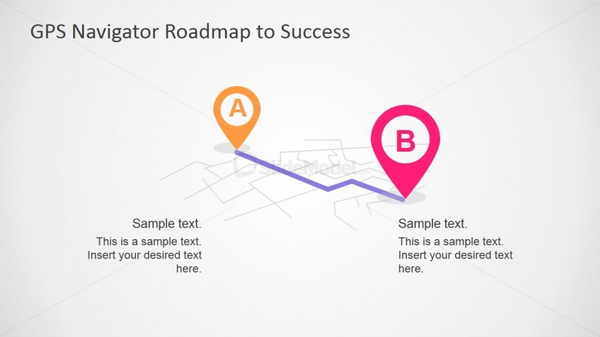 PowerPoint Shapes of Map and GPS Navigation Markers