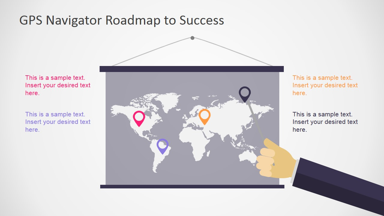 PowerPoint Shapes of World Map Flat Banner with Presenter
