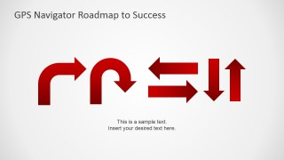 PowerPoint GPS Navigation Signs Icons