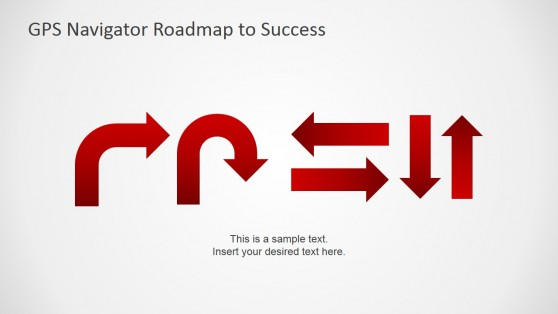 GPS Navigation Signs for PowerPoint