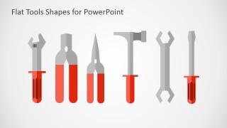 PowerPoint Shapes Handtools Flat Design